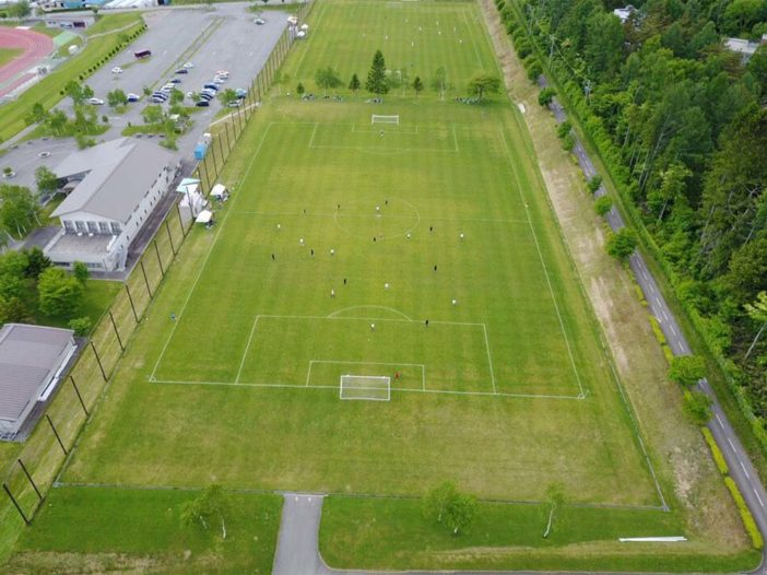Japan Football Tournament - Drone View
